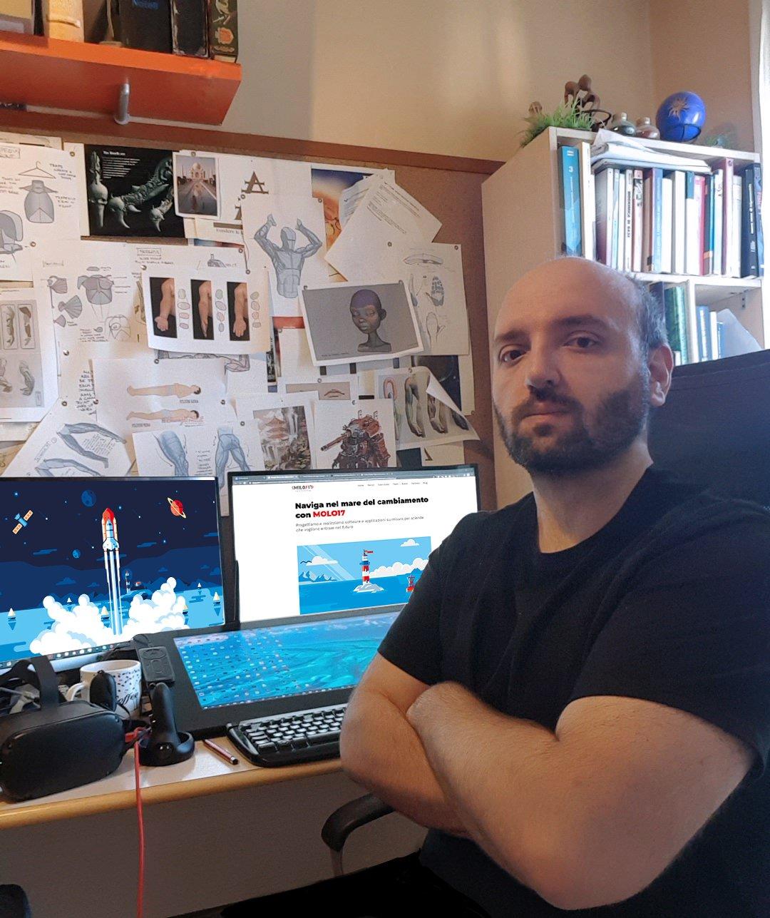 Dario Visaggio in his studio